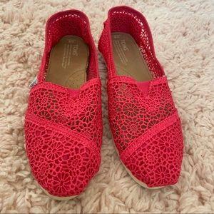 Hot Pink Crochet Classic Toms